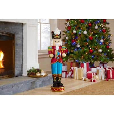 38 in. Christmas Nutcracker with LED lights
