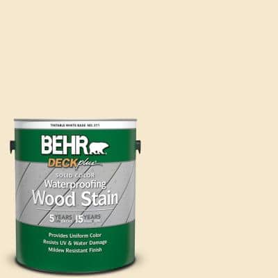 1 gal. White Base Solid Color Waterproofing Exterior Wood Stain