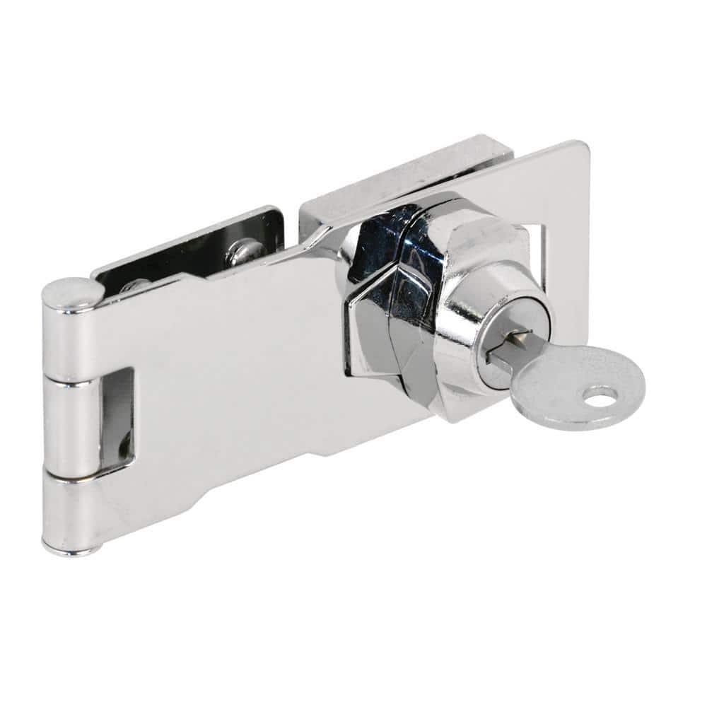 uxcell Keyed Hasp Lock 135mm Twist Knob Keyed Locking Hasp for Door Cabinet Keyed Alike Bronze Tone