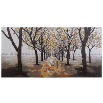 """27.5 in. x 55.25 in. """"Pathway"""" Hand Painted Contemporary Artwork"""