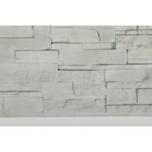 Dry Stacked Stone 41-1/2 in. x 13-1/8 in. Travertine Vinyl Siding (10-Pack)