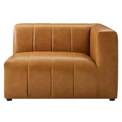 Bartlett Tan Vegan Leather Right-Arm Chair