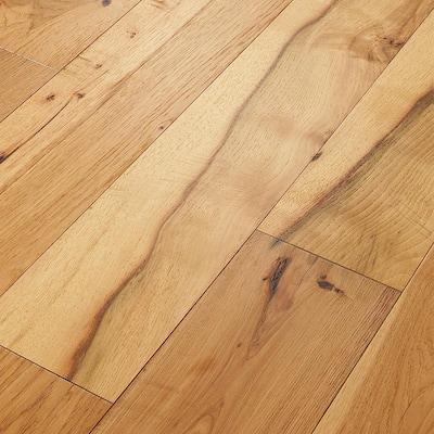 Take Home Sample - Belvoir Hickory York Engineered Brushed Hardwood Flooring - 7-1/2 in. x 8 in.