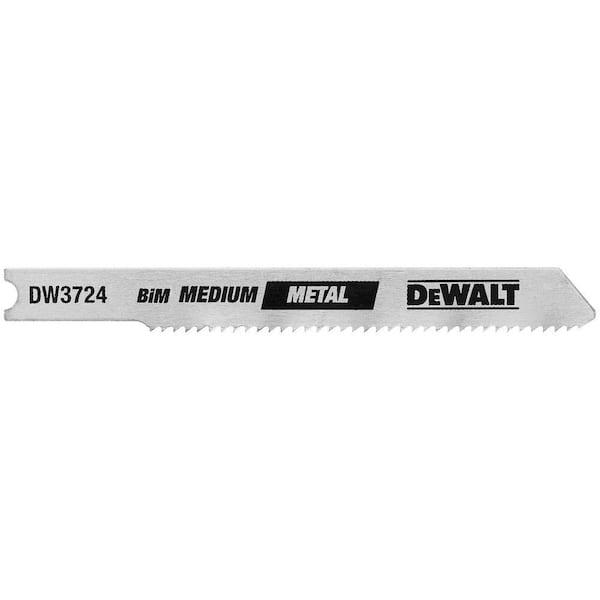 DEWALT 3 in. 18 TPI Medium Metal Cutting Jig Saw Blade Bi-Metal U-Shank (5-Pack)