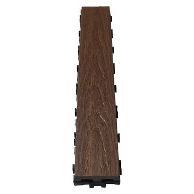 UltraShield Naturale 3 in. x 2 ft. Quick Composite Single Slat Deck Tile in Spanish Walnut (4-Pieces per Box)