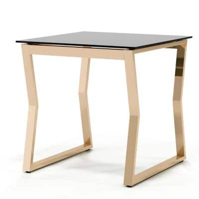 Harvoy 24 in.H Gold End Table