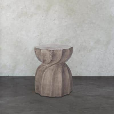 Waxed Concrete Side Table