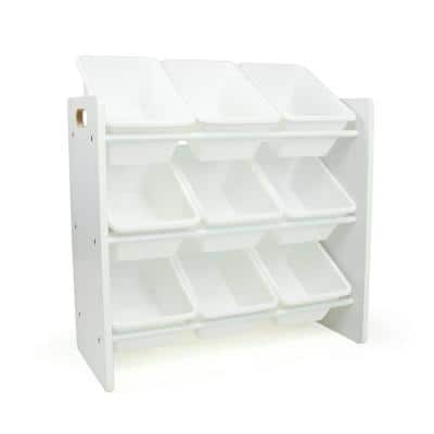 Cambridge White Toy Organizer with 9 Storage Bins, 23.62 in. H x 25.79 in. W x 11.02 in. D