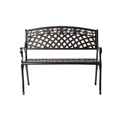 Scarlet Antique Bronze 40 in. Cast Aluminum Outdoor Bench