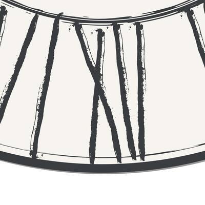 Decorative White Lion Round Laminated Kitchen Mat 39 in