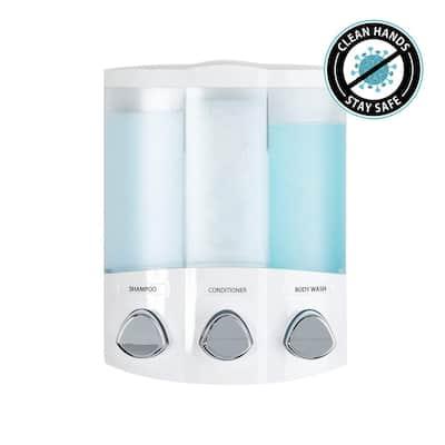 Trio Dispenser in White