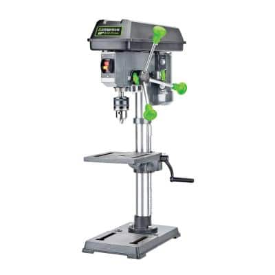 4.1-Amp 10 in. 5-Speed Drill Press with 5/8 in. Chuck, Work Light, and Table Rotatable 360° and Tiltable 45°