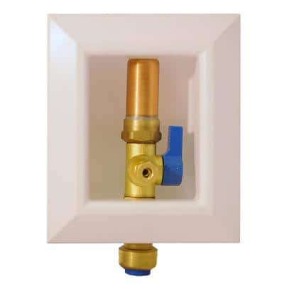 1/2 in. Brass Push-to-Connect Ice Maker Outlet Box with Water Hammer Arrestor