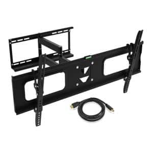 Full Motion Articulating Tilt/Swivel Universal Wall Mount for 19 in. - 80 in. TVs with 15 ft. HDMI Cable