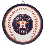 Houston Astros Round Baseball Metal Sign