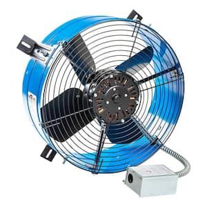 Premium 1,600 CFM Blue Electric Gable Mount Power Attic Fan