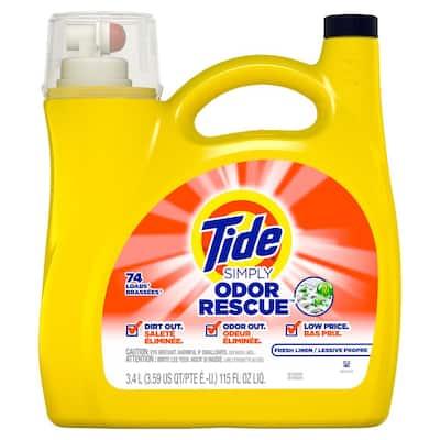 115 oz. Simply Odor Rescue Fresh Linen Liquid Laundry Detergent (74-Loads)