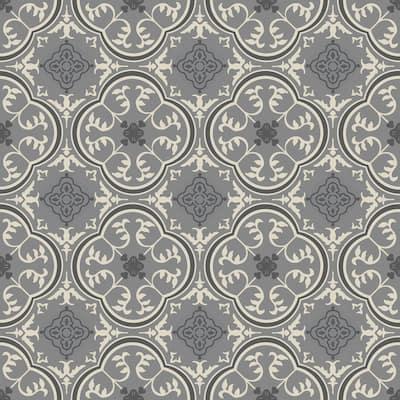 Soho Grey Decorative Residential/Light Commercial Vinyl Sheet Flooring 13.2ft. Wide x Cut to Length