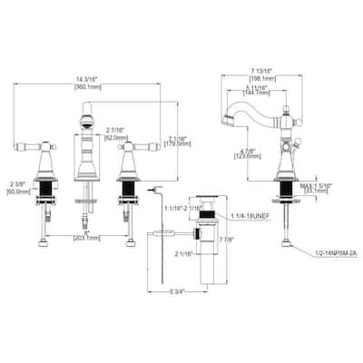 Oakmont 2-Handle Lavatory Faucet in Oil Rubbed Bronze