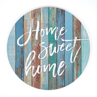 Home Sweet Home Blue Oversized Wall Decor
