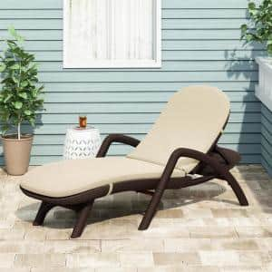 Primrose 28 in. x 36.0 in. Outdoor Chaise Lounge Cushion in Beige