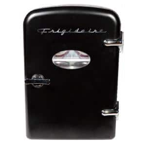 0.3 cu. ft. 6-Can Retro Mini Fridge in Black