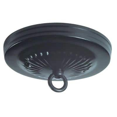 5 in. Black Traditional Canopy Kit