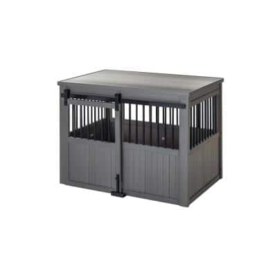 Homestead ECOFLEX Grey Sliding Barn Door Dog Crate Extra Large