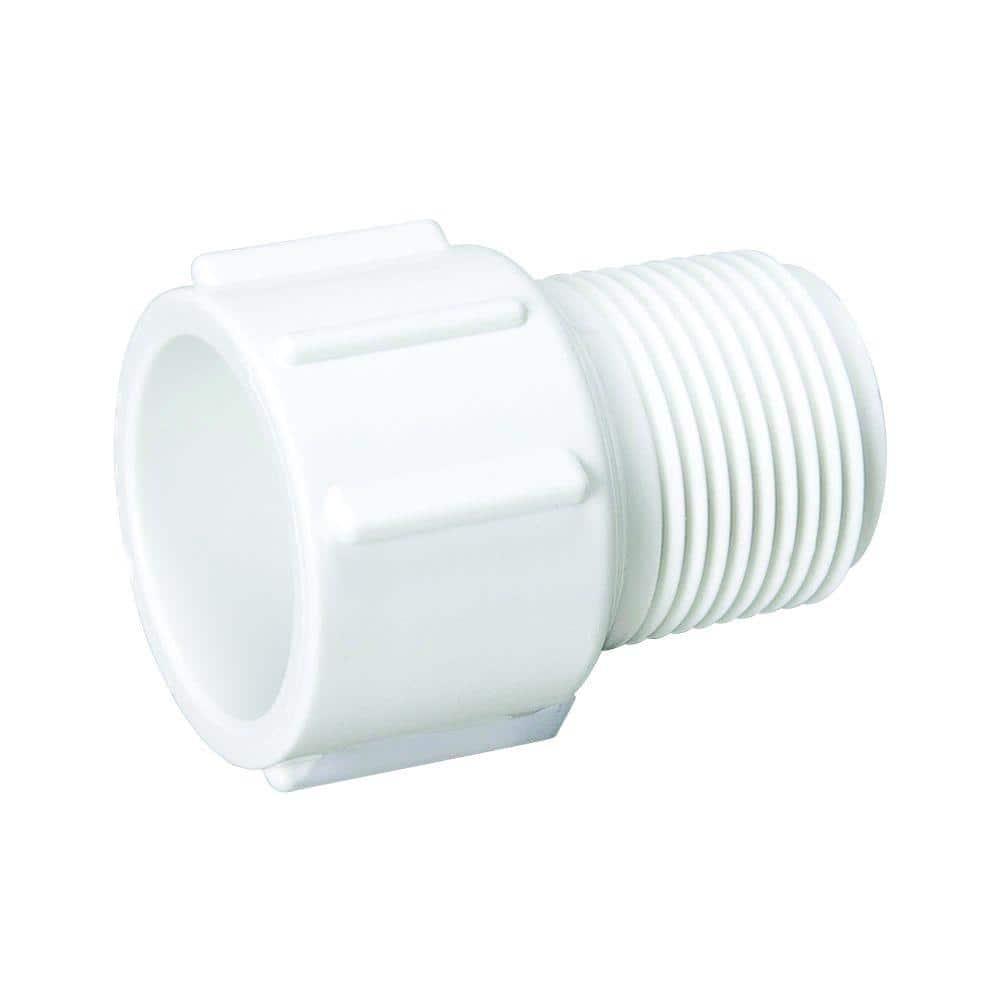 Mueller Streamline 1/2 in. PVC Schedule 40 Pressure MIPT x Slip Male Adapter