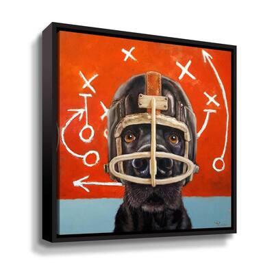 Rookie' by Lucia Heffernan Framed Canvas Wall Art