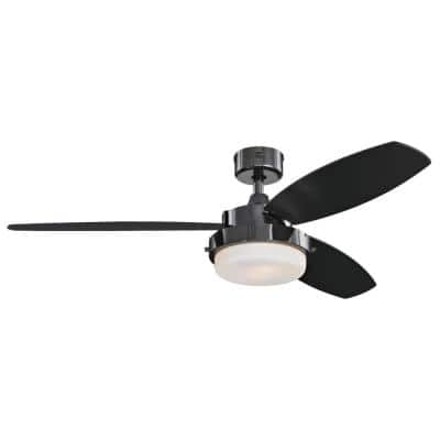 Alloy 52 in. LED Gun Metal Ceiling Fan