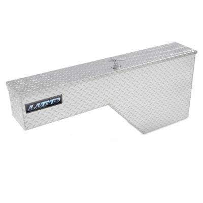 48 in Diamond Plate Aluminum Wheel Well Truck Tool Box with mounting hardware and keys included, Silver
