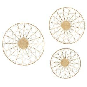 Round Rattan Wall Decor, 20 in., 24 in., 28 in., Set of 3
