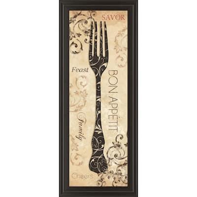"""18 in. x 42 in. """"Bon Appetite"""" by Dee Dee Framed Printed Wall Art"""