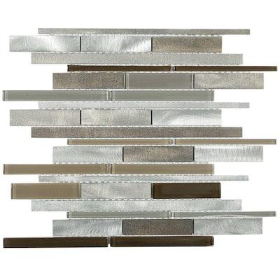 Urban Sandy 12 in. x 12 in. x 8 mm Metal Wall Tile