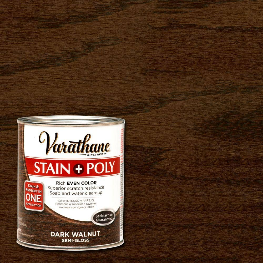 Varathane 1 qt. Dark Walnut Stain and Polyurethane