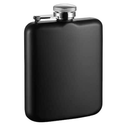 Podova Black Matte Stainless Steel Liquor Flask