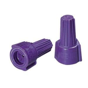 Twister Al/Cu Wire Connectors, Purple (10-Pack)