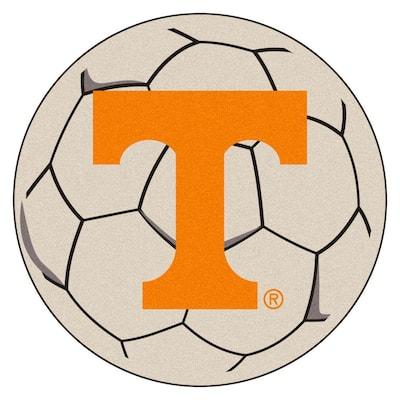 NCAA University of Tennessee Cream 2 ft. x 2 ft. Round Area Rug