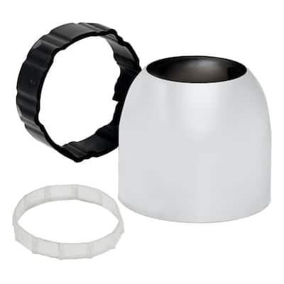2 in. Escutcheon Cap Kit, Polished Chrome