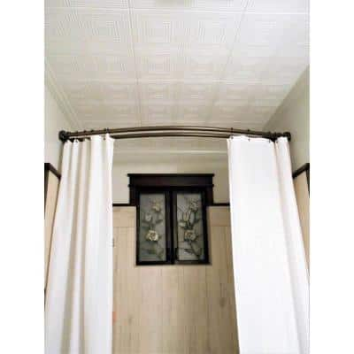 Nested Squares 1.6 ft. x 1.6 ft. Glue Up Foam Ceiling Tile in Plain White (21.6 sq. ft./case)