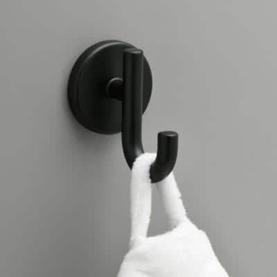Lyndall Single Towel Hook in Matte Black
