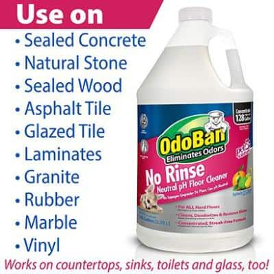 1 Gal. No Rinse Neutral pH Floor Cleaner, Concentrated Hardwood and Laminate Floor Cleaner, Streak Free