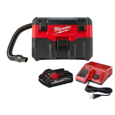 M18 18-Volt 2 Gal. Lithium-Ion Cordless Wet/Dry Vacuum W/ 3.0 Ah Battery and Charger