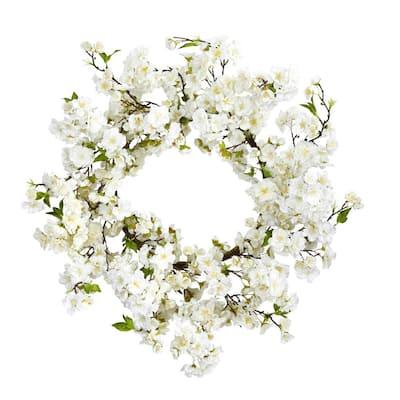 24 in. Cherry Blossom Wreath