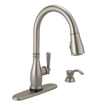 Charmaine Single-Handle Pull-Down Sprayer Kitchen Faucet with Touch2O and ShieldSpray Technologies in Stainless