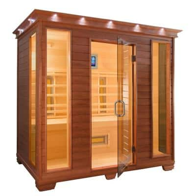 4-Person Infrared Health Sauna with MPS Touchview Control, Aspen Wood and 12 TheraMitter Heaters