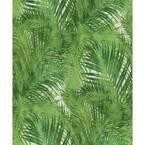 Tina Green Palms Vinyl Strippable Roll (Covers 55 sq. ft.)