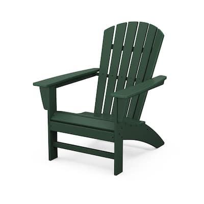 Grant ParkTraditional Curveback Green Plastic Outdoor Patio Adirondack Chair