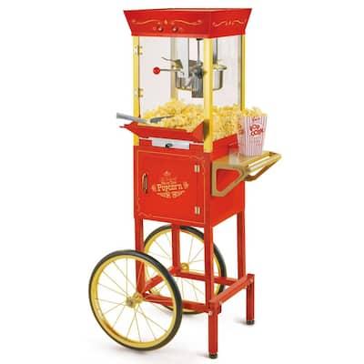 Vintage 8 oz. Red Oil Popcorn Machine with Cart